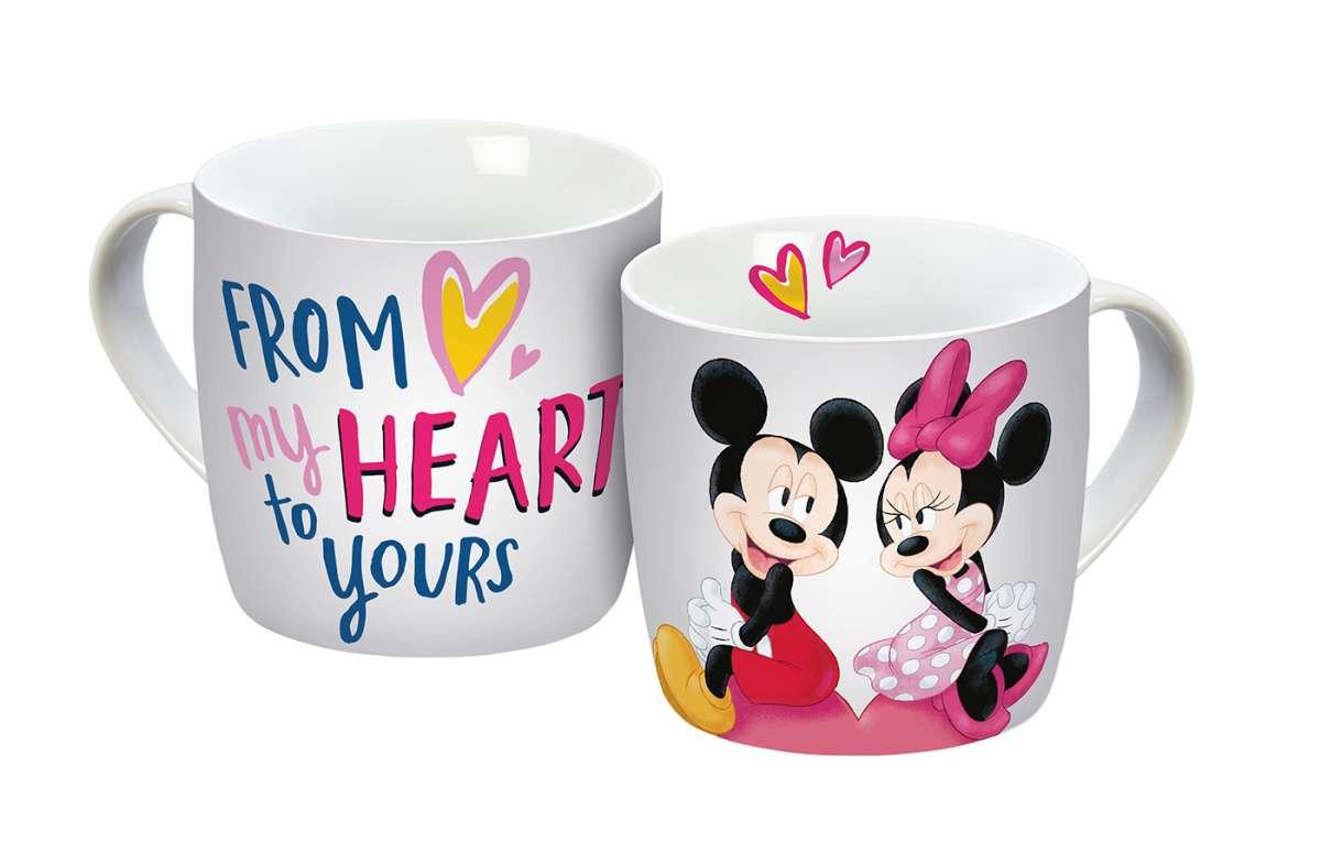 tasse mickey my heart 300ml  mickey  minnie mouse