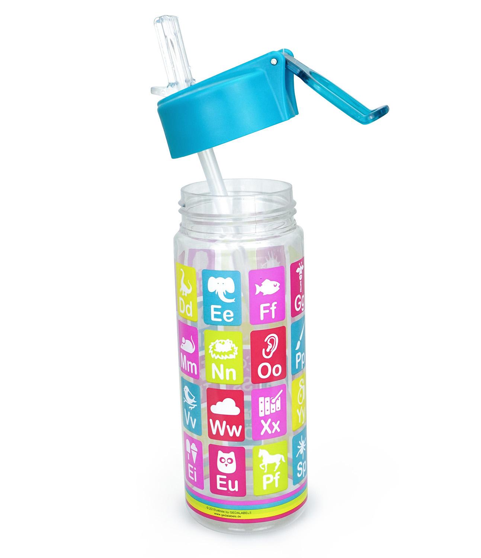 trinkflasche anlauttabelle 500ml  back to school  themen