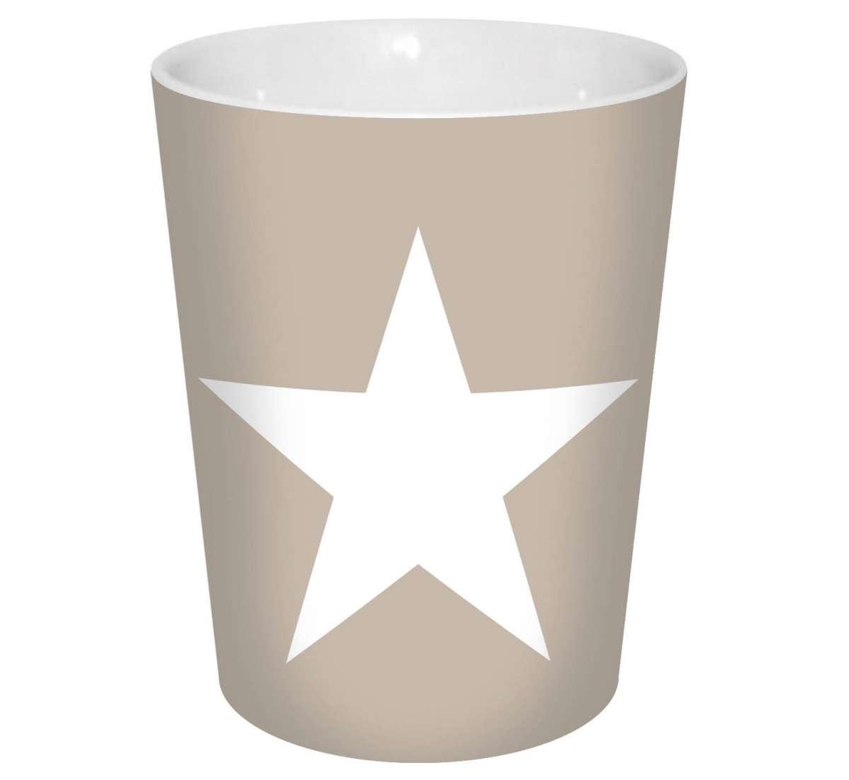 kaffeebecher stern beige 300ml  sterne  themen  trends